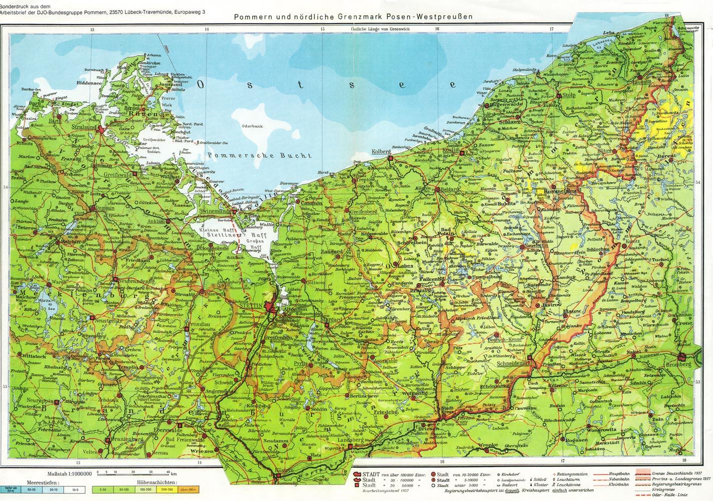 pommern karte vor 1945 Bilder von Groß Tuchen